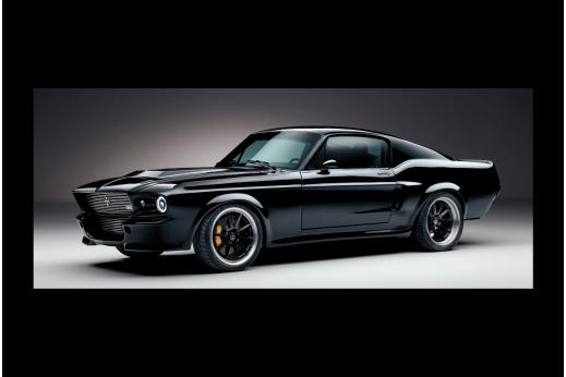 Картина Ford Mustang Черная